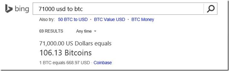 bitcoin bing exchange