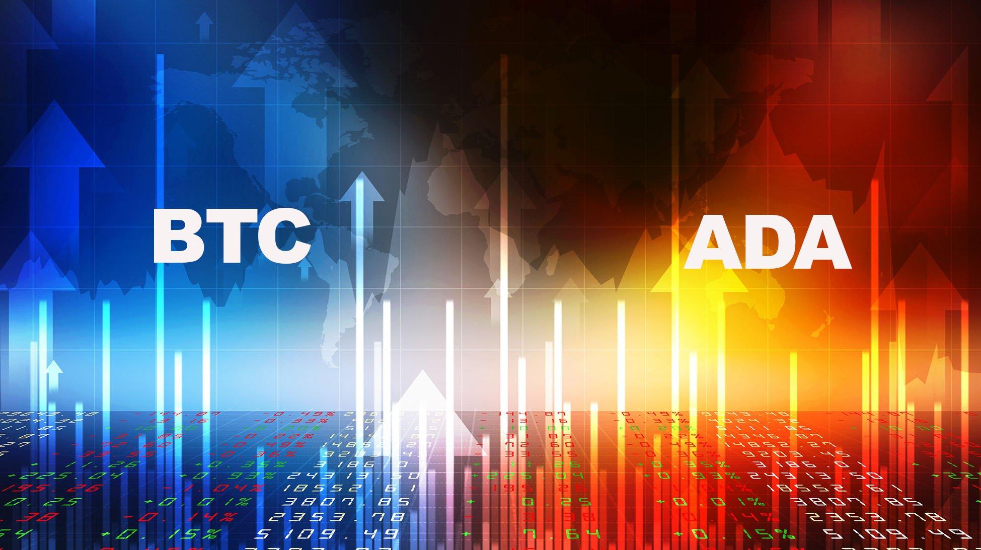 Bitcoin BTC ve Cardano ADA