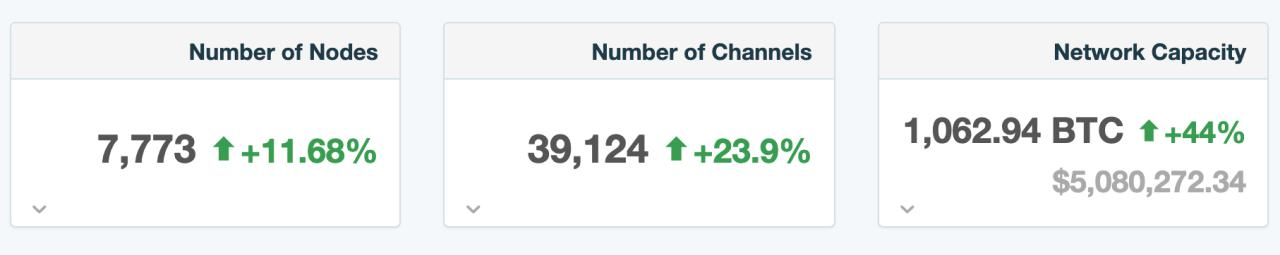 Bitcoin Lightning Network İstatistikleri