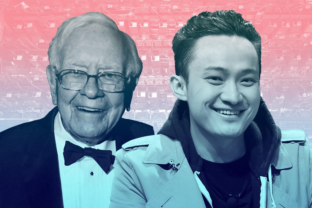 Justin Sun ve Warren Buffett Tron