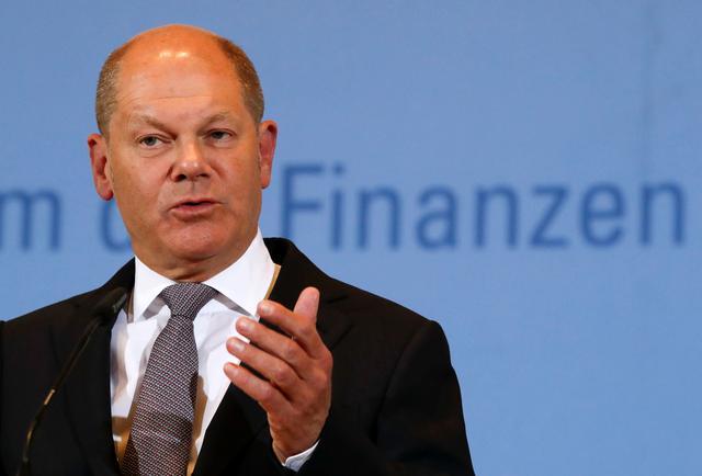 Almanya Maliye Bakanı Olaf Scholz Libra