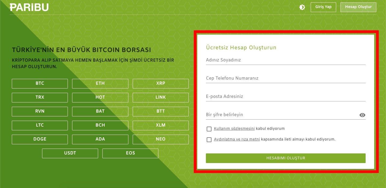 Nasıl Bitcoin Alınır - Paribu Kayıt Olma