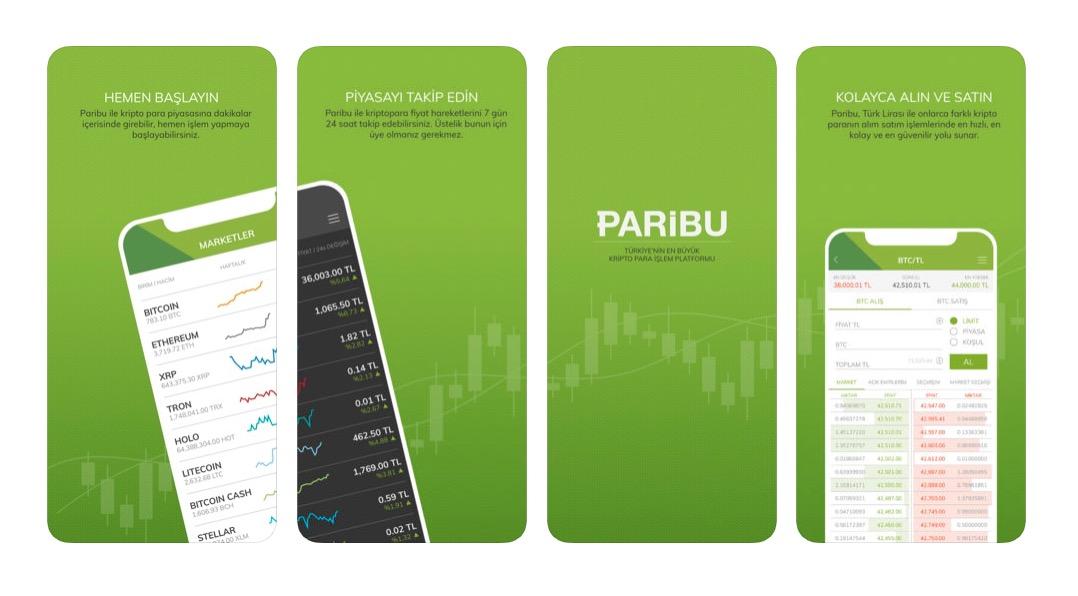 Paribu iOS ve Android Uygulaması