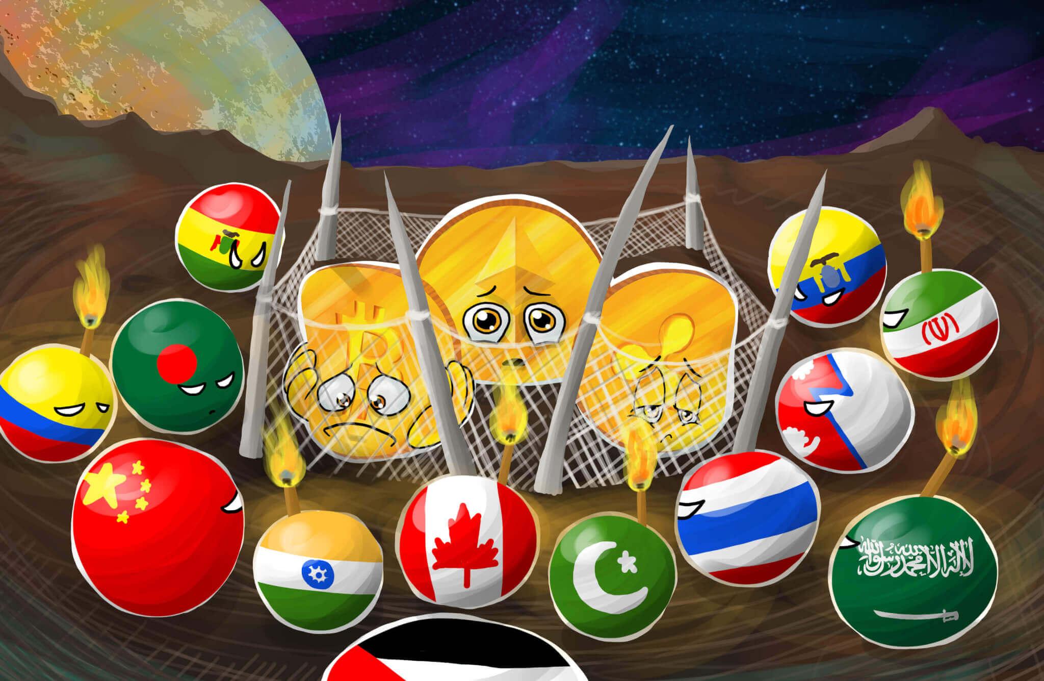 Bitcoin yasak ülkeler btc