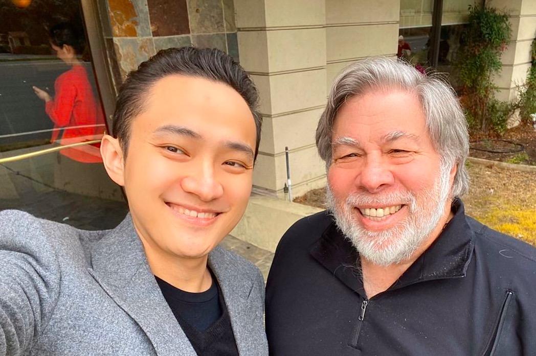 Justin Sun ve Steve Wozniak 1