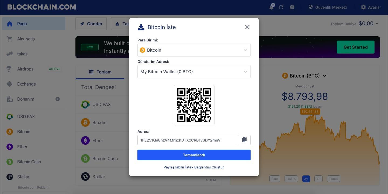 Bitcoin Cüzdanı Bitcoin İste