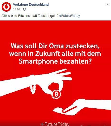 Vodafone Bitcoin BTC