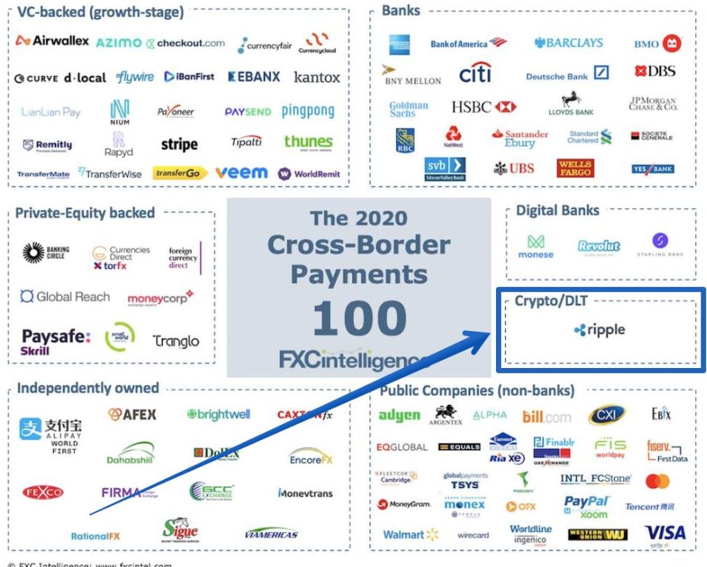 ripple ilk 100 şirket