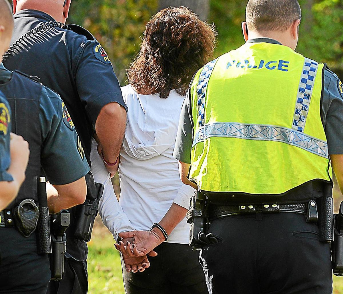 woman under arrest