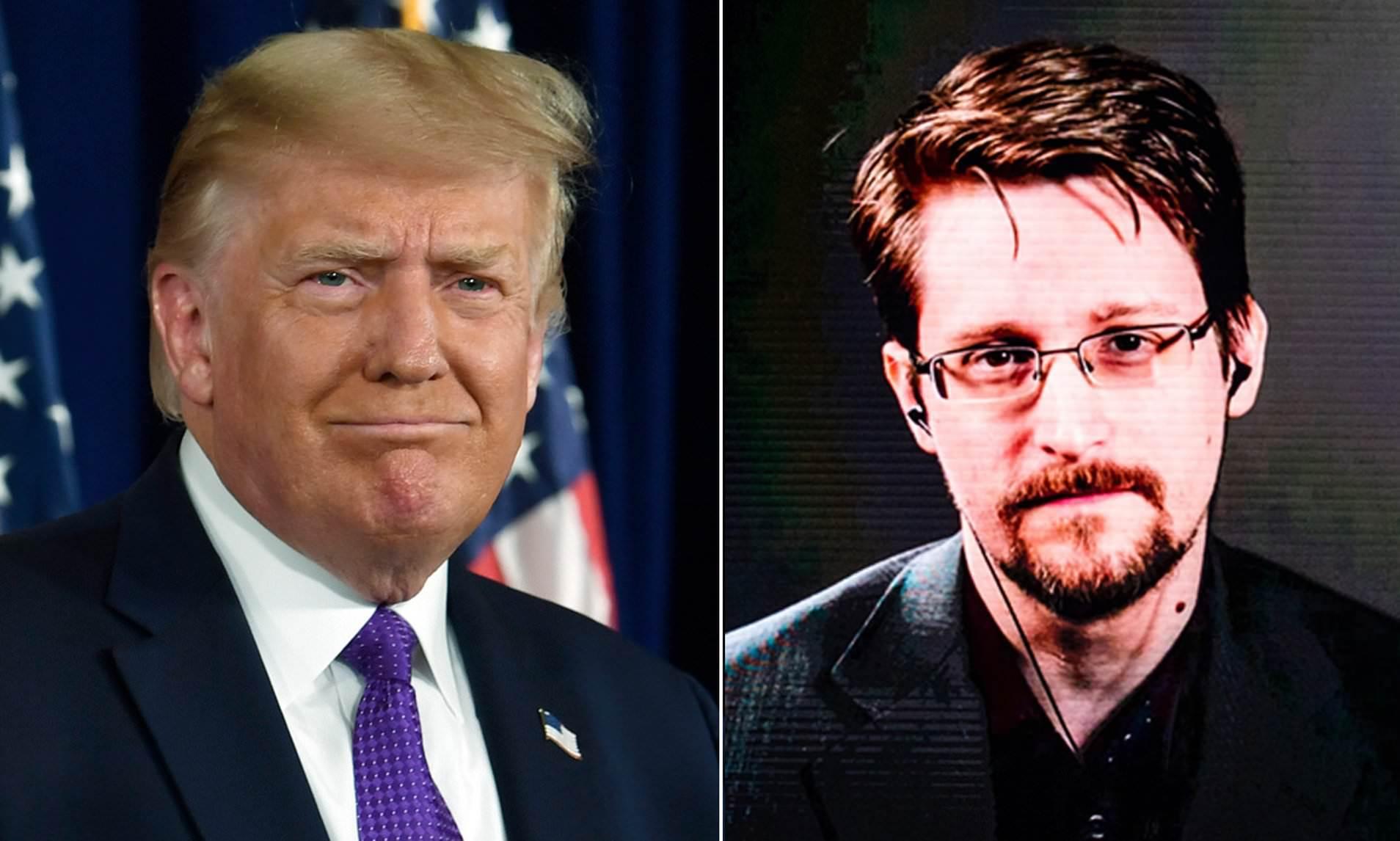 Trump ve Edward Snowden
