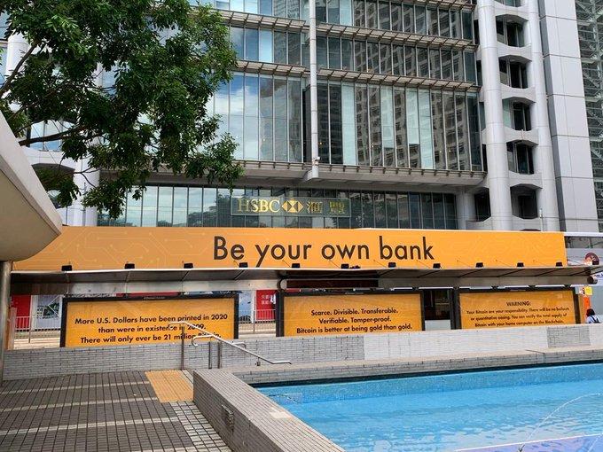 bitcoin reklamlari her yerde kendi bankaniz olun
