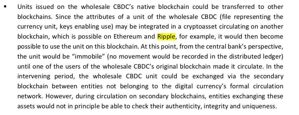 XRP Ripple CBDC
