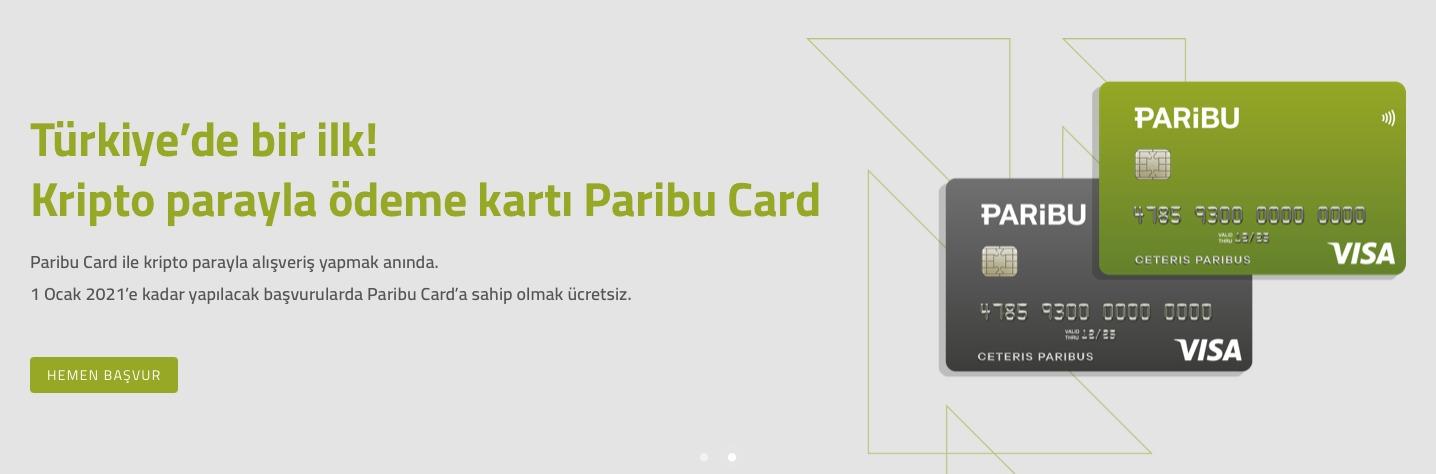 Paribu Card Basvuru