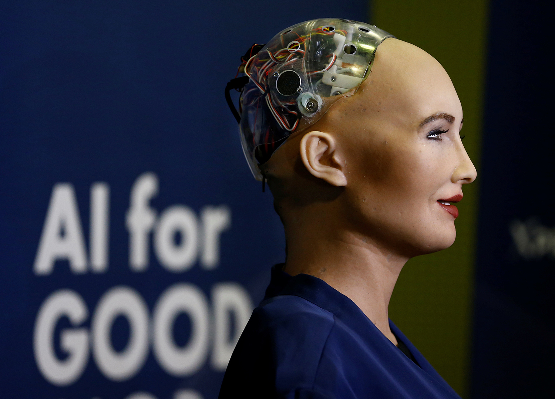 robot sophia cardano