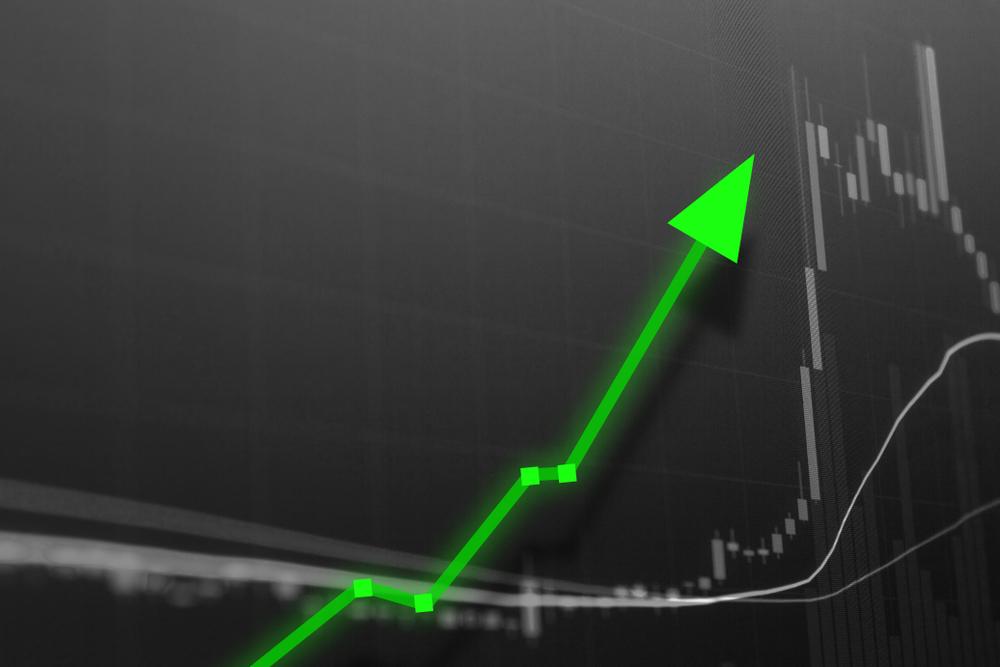 stock chart green