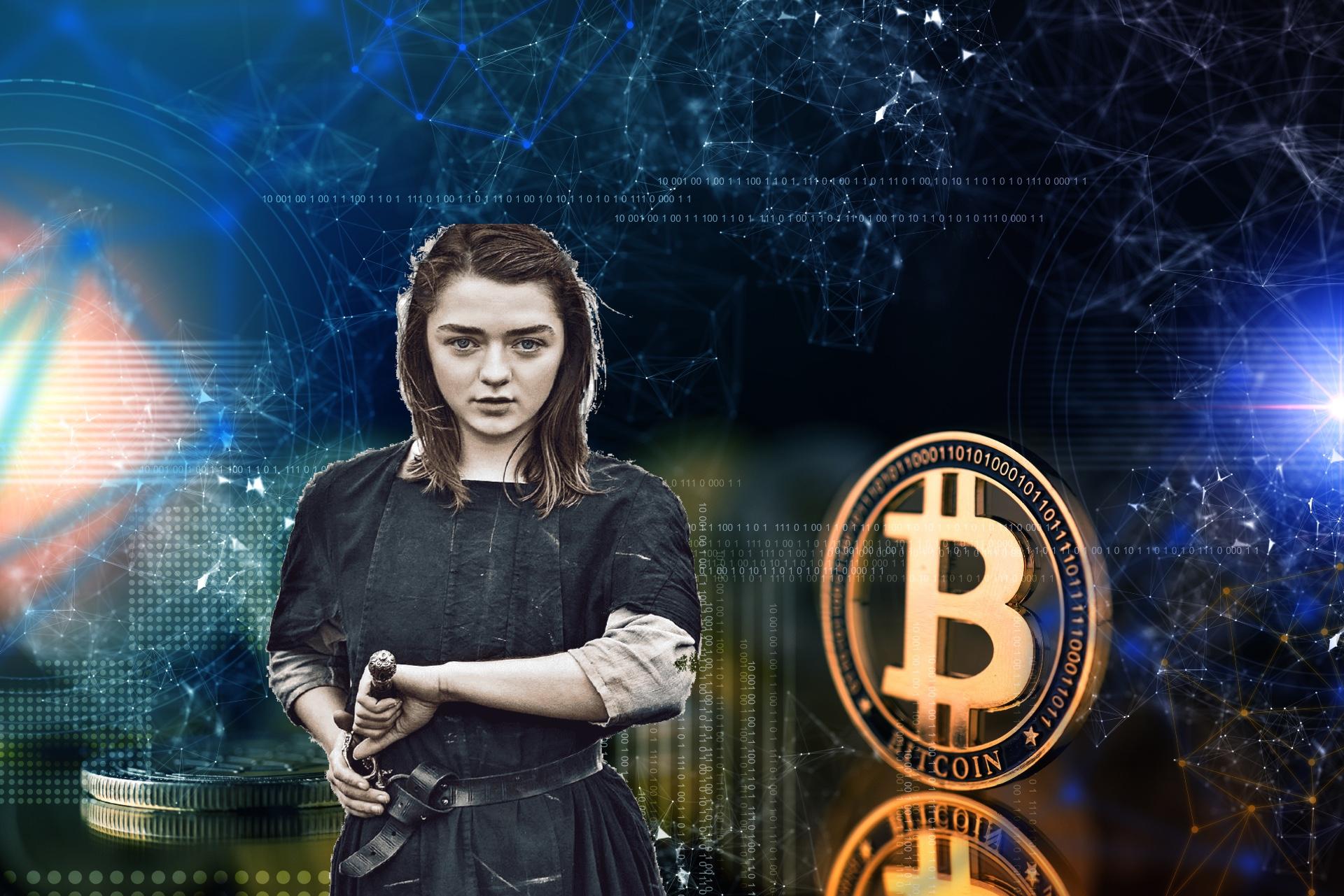bitcoin arya stark game of thrones btc