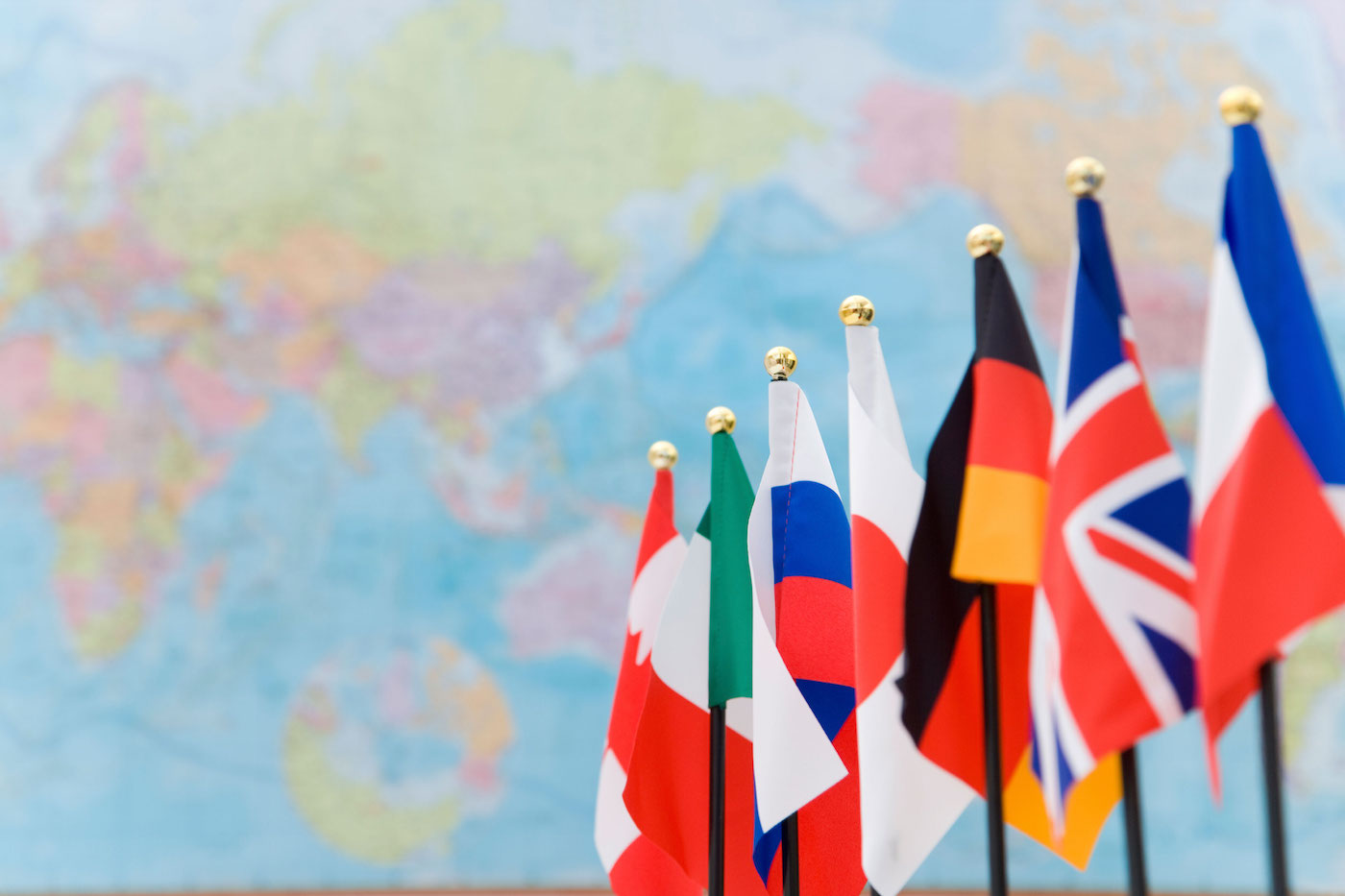 G7 event flags with map