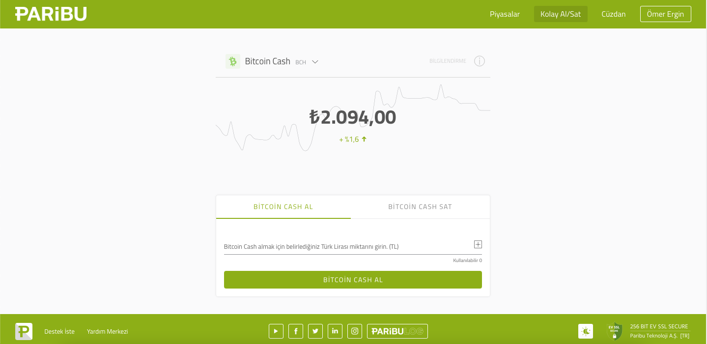 Kolay Bitcoin Cash Al