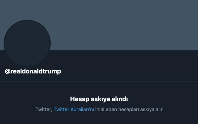 abd baskani donald trumpin twitter hesabi kalici olarak askiya alindi