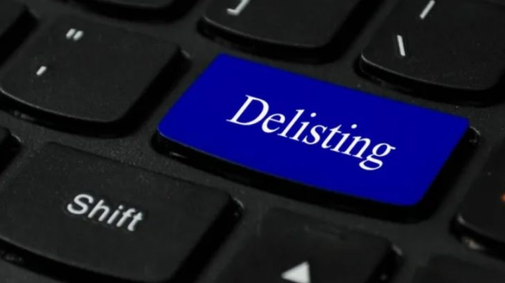 delist