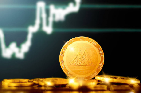 depositphotos 381706132 stock photo mithril mith cryptocurrency mithril golden