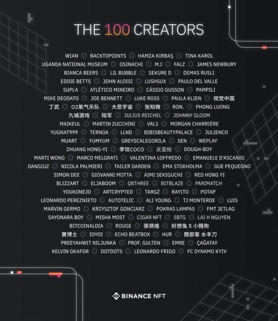 binance nft pazar yerinin acilisinda yer alacak 100 sanatciyi acikladi icerisinde yerli isimler var 1
